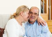 Joyful mature couple together   — Stock Photo
