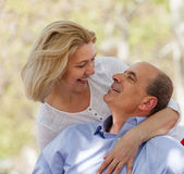 Mature couple in love outdoor — Stock Photo
