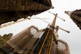 Closeup of construction of Sagrada Familia — Stock Photo