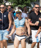 Guys during  Gay pride parade in Sitges — Zdjęcie stockowe