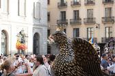 Gigant of bird during San Joan  in Barcelona — Stock Photo