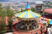 Carrousel at Tibidabo Amusement Park  in Barcelona — Foto Stock