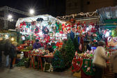 Traditional Christmas trade near  Cathedral. Barcelona — Stock Photo