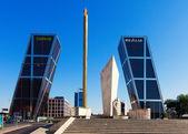 : Plaza de Castilla in sunny day. Madrid, Spain — Stock Photo