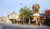 Old picturesque Barcelona street — Photo