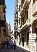 Street in Gothic Quarter. — Stock Photo