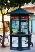 Lottery kiosk on street — Stock Photo