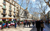 La Rambla in Barcelona — Stock Photo