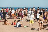 Open lucht partij op strand — Stockfoto