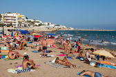 People at  beach in Sitges  — Stock Photo