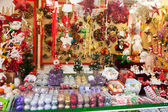Christmas decorations and traditional gifts — Stock Photo