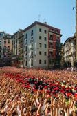Start of San Fermin feast  in Pamplona, Spain — Stock Photo
