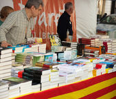 Books on street stalls — Stock Photo