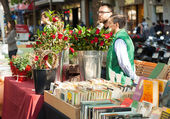 Sant Jordi feast — Stock Photo