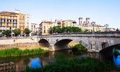 Old bridge over the river Onyar — Stock Photo