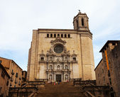 Gothic Cathedral in Girona — ストック写真