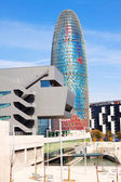 Torre agbar in Barcelona — Stock Photo