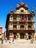 Townhall facade  in Pamplona — Stock Photo