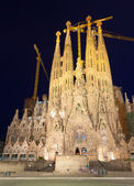 Sagrada Familia in night — Stock Photo