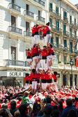 Traditionally Catalan show - Castell — Stock Photo