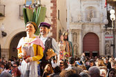Gigantes during Cal?otada festival in Valls — Stock Photo