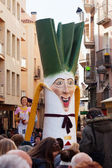 Gigant of  Calsot during Cal?otada at streets in Valls — Stock Photo