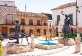 Don Quixote and Dulcinea in El Toboso — Stock Photo