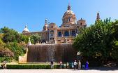 View of National Art Museum of Catalonia — Zdjęcie stockowe