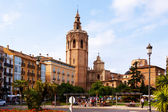 View of Plaza de la Reina in Valencia, Spain — Stock Photo