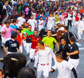 Encierro - Running of the Bulls — Stock Photo