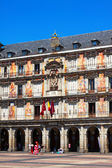 Picturesque houses at Plaza Mayor  — Stock Photo