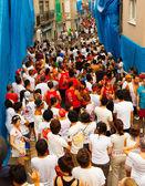 People before La Tomatina festival — Stock Photo