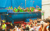 La Tomatina festival - tomatoes madness — Stock Photo