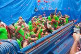 La Tomatina festival — Stock Photo