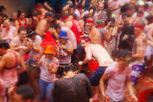 People in La Tomatina festival — Stock Photo