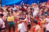 People during La Tomatina festival — Stock Photo