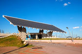 Photovoltaic plate in Forum area — Stock Photo