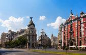 Crossing Calle de Alcala and Gran Via — Stock Photo