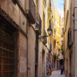 Narrow street of Gothic district — Stock Photo #50930871