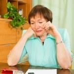 Woman doing financial work — Stock Photo #50938909