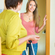 Adult daughter saying goodbye to mom — Stock Photo #50939479