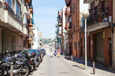 Hilly streets in Badalona. — Stock Photo