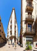 Picturesque streets of Barrio Gotico — Stock Photo