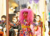 Girl at procession of burial Carnestoltes — Stock Photo