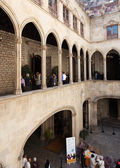 Ancient courtyard in city hall — Stock Photo