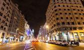 Gran Via in Madrid — Stock Photo