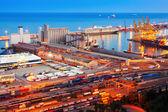 Industrial port de Barcelona — Stock Photo