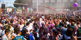 Festival of colours Holi Barcelona — Stock Photo