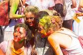 Girls at Festival Holi in Barcelona — Stock Photo