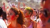 Women at  Festival  Holi in Barcelona — Stock Photo